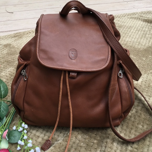 3460e3a7b5 Bruno Rossi Handbags - Bruno Rossi brown leather backpack